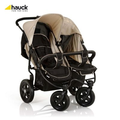 Hauck Roadster Duo Twin Pushchair, Caviar/Almond