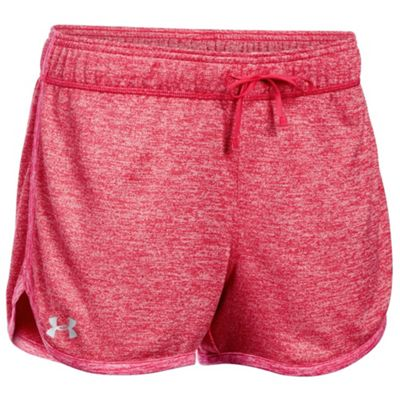 Under Armour Tech Twist Womens Exercise Fitness Short Knock Out Pink - UK 14-16