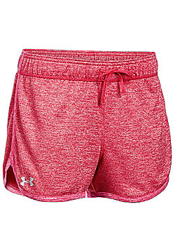 Under Armour Tech Twist Womens Exercise Fitness Short - Pink
