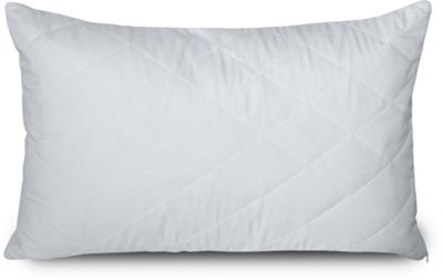 Quilted Cot Pillow Protector Zippered Closing Microfibre Soft Touch