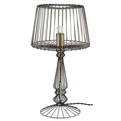 Industrial Open Wire Table Lamp Complete