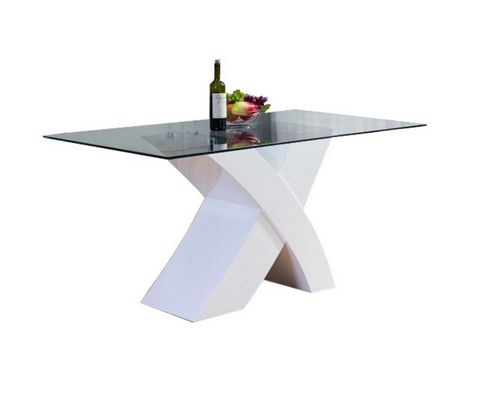 Milano White X Dining Table