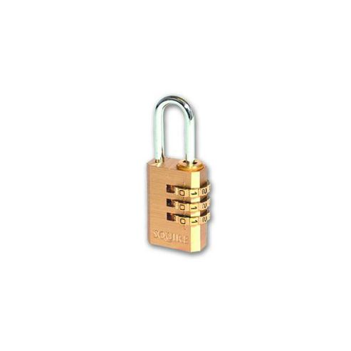 Squire 3 Wheel Brass Open Shackle Combination Padlock - 30mm KD Visi