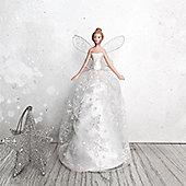 Iridescent Snowflake Fairy Tree Topper - Small