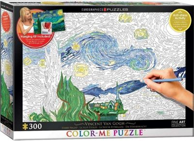 Starry Night - Colour-Me Puzzle - 300pc