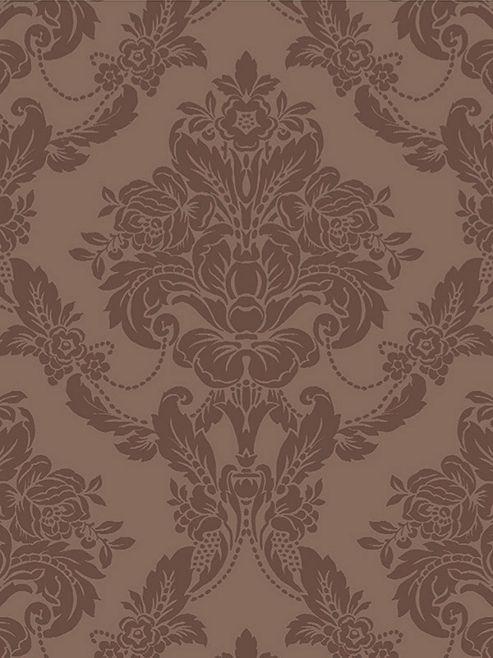 Sophie Conran Palais Damask Flock Wallpaper Mink 980608