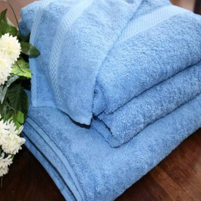 Homescapes Turkish Cotton Cobalt Blue Bath Towel