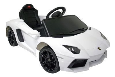 Lamborghini Electric Car For Kids >> Buy Kids Electric Car Lamborghini Aventador 6 Volt White Gloss