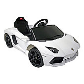 Kids Electric Car Lamborghini Aventador 6 Volt White Gloss