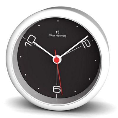 Oliver Hemming Acrylic Handy Night Light Alarm Clock - White/Black