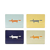 Scion Mr Fox Set of 4 Placemats, Blue