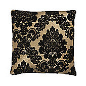 Bahne Black and Gold Lace Print Cushion designed by Margit Brandt 45 x 45 cm