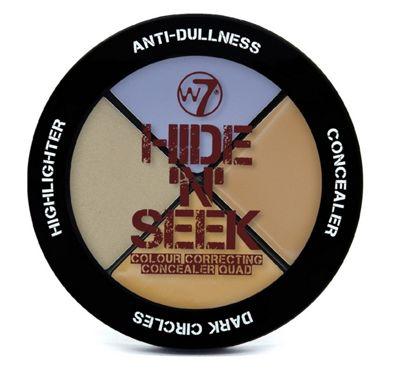 W7 Hide 'N' Seek Quad Colour Correcting Concealer -Lavender