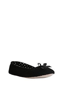 F&F Polka Dot Inner Ballerina Slippers - Black