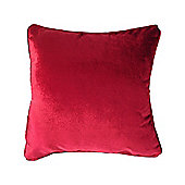 McAlister Velvet Cushion Cover - Classic Red, Silky Touch