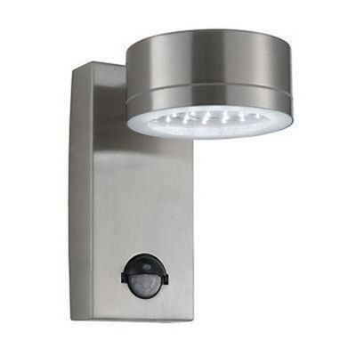 Led outdoor wall light stainless steel complete with sensor