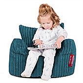 Lounge Pug® Toddlers Armchair Bean Bag - Cord Aegean Blue