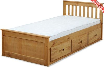 Amani Mission Small Double Bed Frame - 6 Drawers
