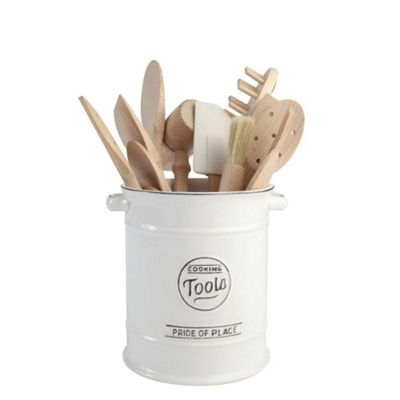 T&G Woodware Pride of Place Utensils Cooking Tools Jar in White 18077