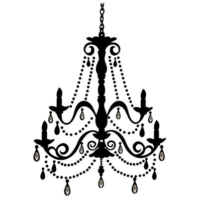 Chandelier Wall Stickers With Gems