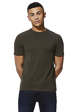 F&F Crew Neck T-Shirt with As New Technology - Khaki