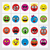 Funny Face Temporary Tattoos for Children - Great Toy Party Bag Filler Loot Gifts for Kids (Pack of 24)