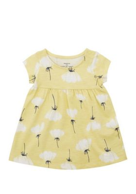 F&F Floral Buttercup Print Dress Yellow 9-12 months