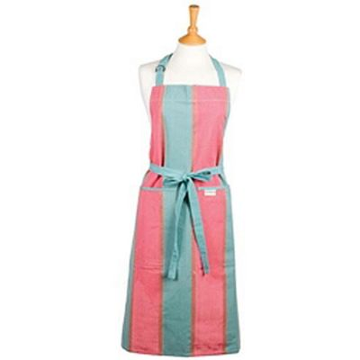 Sterck Zaika Pink & Green Stripe Full Apron, Longer Length