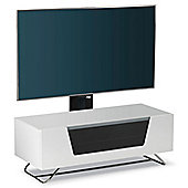 Alphason Chromium White Cantilever TV Stand