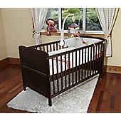 Poppy's Playground Isabella Cot Bed/Junior Bed With Foam Safety Mattress- Walnut
