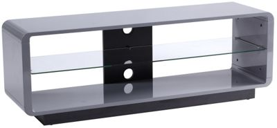 Alphason Luna ADLU1400-GRY High Gloss Grey TV Stand