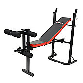Confidence Fitness Home Multi Gym Dumbbell Weight Bench With Leg Extension Unit V2