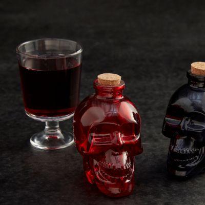 Red Skull Halloween Potion Bottle