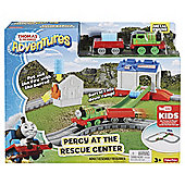 Thomas Adventures Percy At The Rescue Centre Track Set