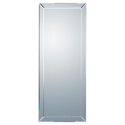 Contemporary Bevelled Mirror 42x100cm