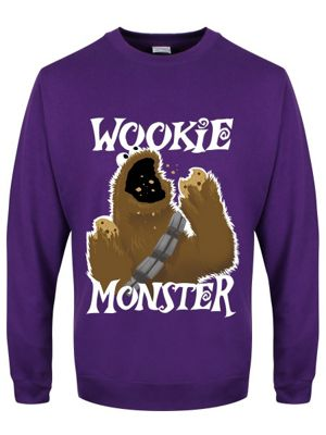 Wookie Monster Purple Men's Sweater