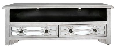Vermont 2 Drawer Entertainment Unit Washed Ash And Mirror