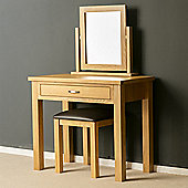 London Oak Dressing Table Set - Light Oak