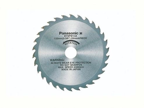 Panasonic EY9PW13A31 135mm Wood cutting Blade for Universal Saw