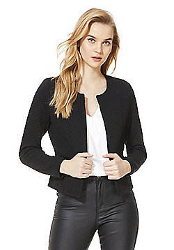 Vero Moda Quilted Short Blazer - Black