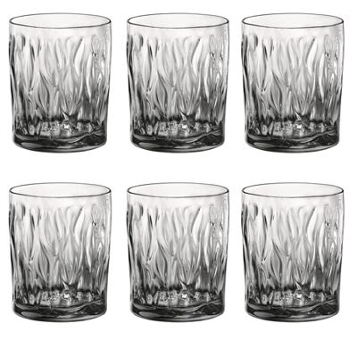 Bormioli Rocco Wind Glass Drinking Tumblers - Light Onyx - 300ml - Pack of 6