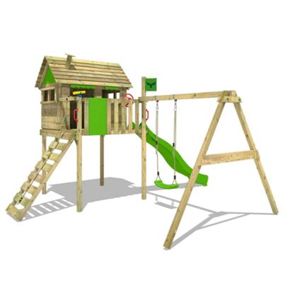 FATMOOSE Climbing frame FunFactory Fit XXL with Superswing and slide
