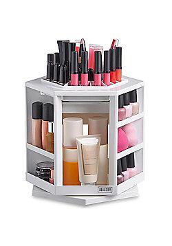 Beautify 360° Rotating Makeup Cosmetic Organiser - White