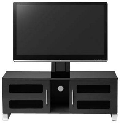 High Gloss Black Cantilever Stand For Up To 60 inch TVs