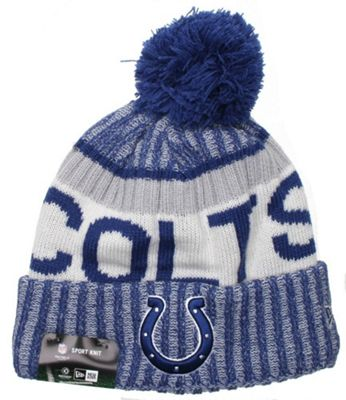 New Era Cap Co NFL Sideline Bobble Knit 2017 Beanie - Indianapolis Colts
