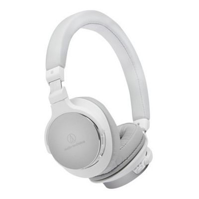 Audio Technica ATH-SR5BT Wireless On Ear High Resolution Audio Headphones (White)
