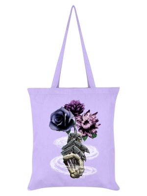 Requiem Collective Death's Bouquet Tote Bag 38 x 42cm, Lilac