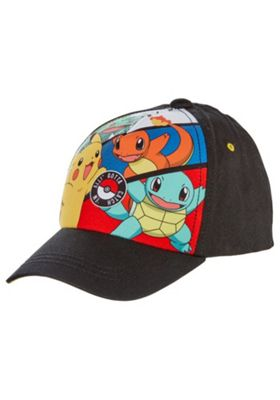 Pokemon Print Cap Black 3-6 years