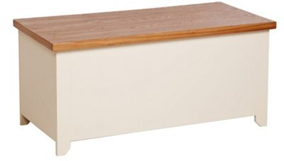 Jamestown Cream/Oak Blanket Box