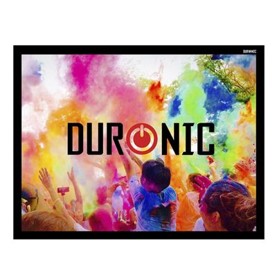 "Duronic APS90/43 Screen Only Hook & Loop Wall Mountable HD Projection Screen for | Cinema | Home – 90"" -4:3 Matte White Screen (Size: 183 X 137cm)"